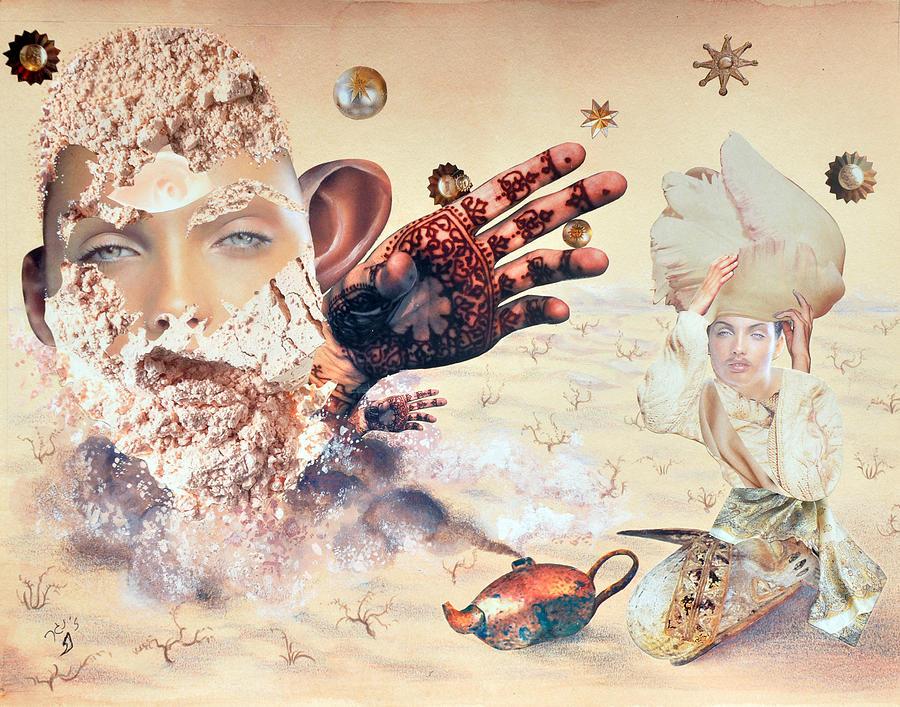 Nekoda Singer Painting - Aladdin And The Magic Lamp by Nekoda  Singer