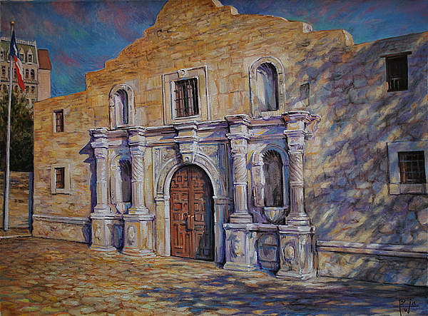 Alamo Painting By Henry Potwin