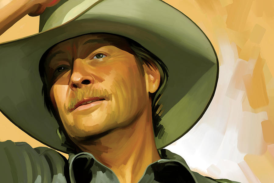 Country Music Painting - Alan Jackson Artwork by Sheraz A