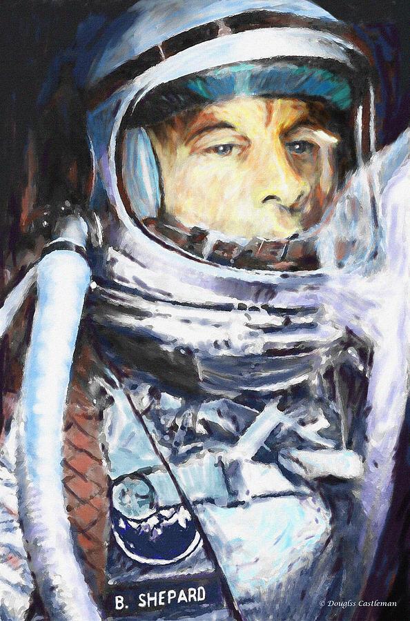 Space Digital Art - Alan Shepard by Douglas Castleman