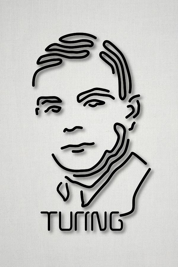 1900s Photograph - Alan Turing by Ramon Andrade 3dciencia