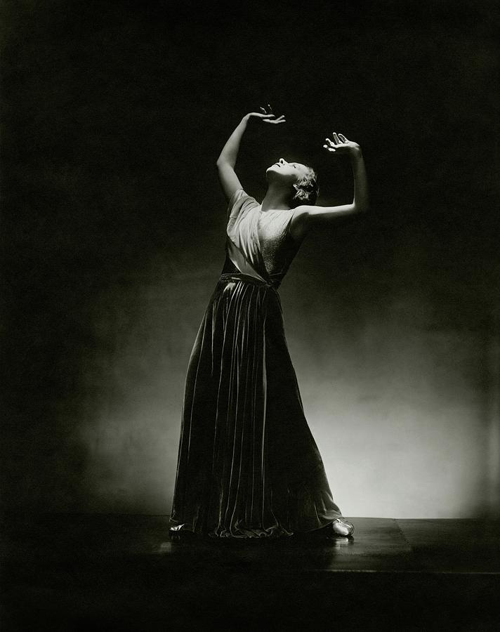 Alanova Posing In A Grecian-style Gown Photograph by George Hoyningen-Huene