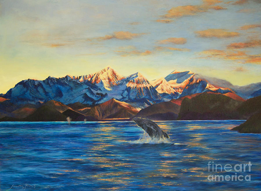 Landscape Painting - Alaska Dawn by Jeanette French