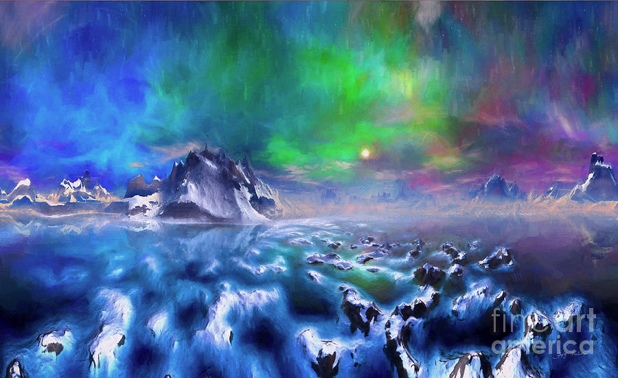 Mountain Digital Art - Alaska Northern Lights  by Heinz G Mielke