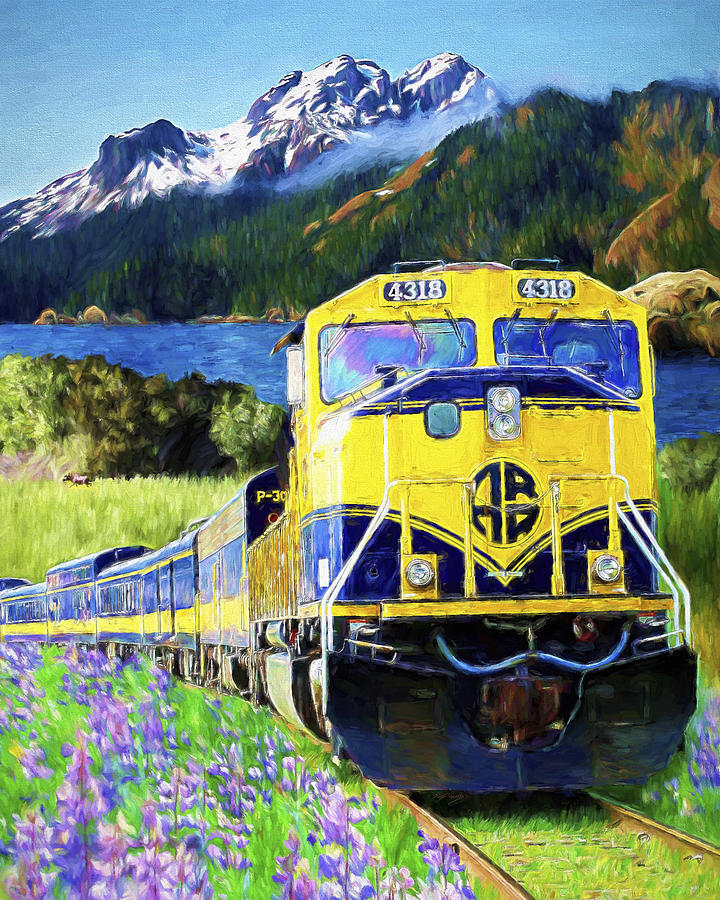 Railroad Painting - Alaska Railroad by David Wagner