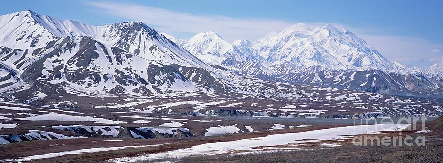 Alaska Range In Spring Snow Denali N P Photograph by Yva Momatiuk and John Eastcott