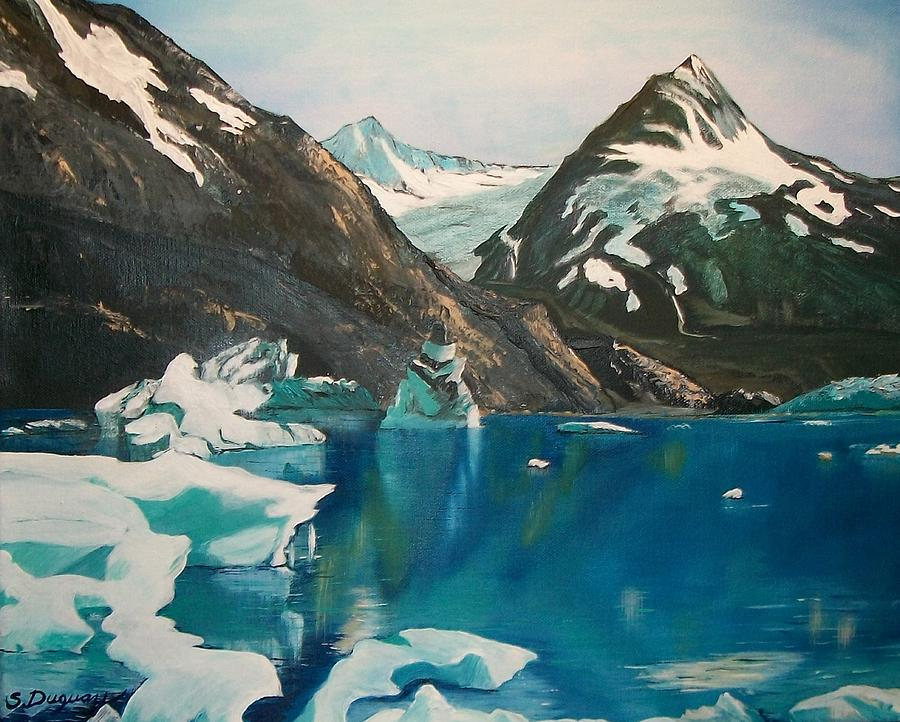 Acrylic Prints Painting - Alaska Reflections by Sharon Duguay