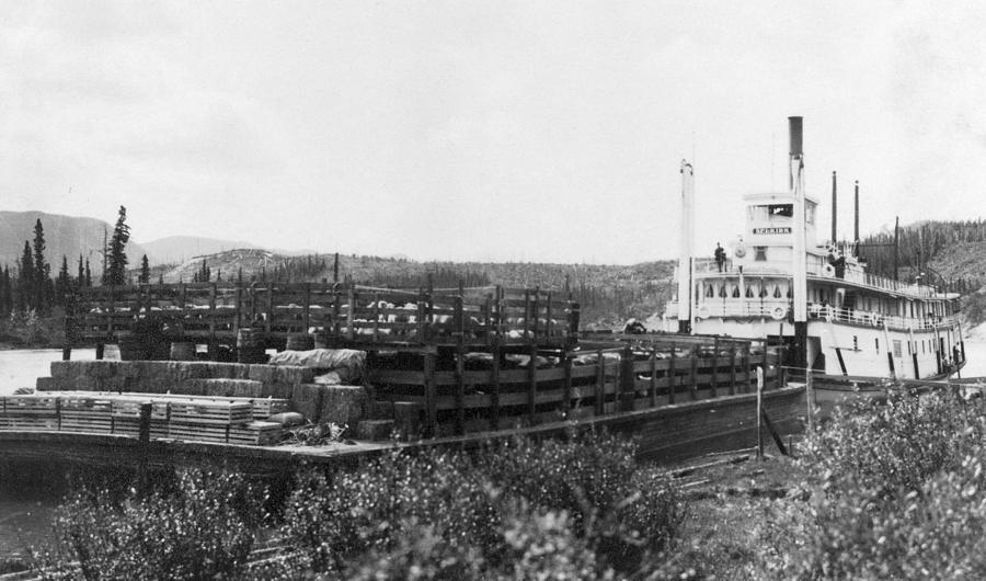 1890 Photograph - Alaska Riverboat by Granger