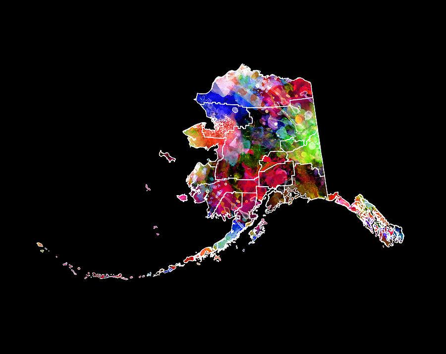 Alaska Digital Art - Alaska State 2 by Daniel Hagerman
