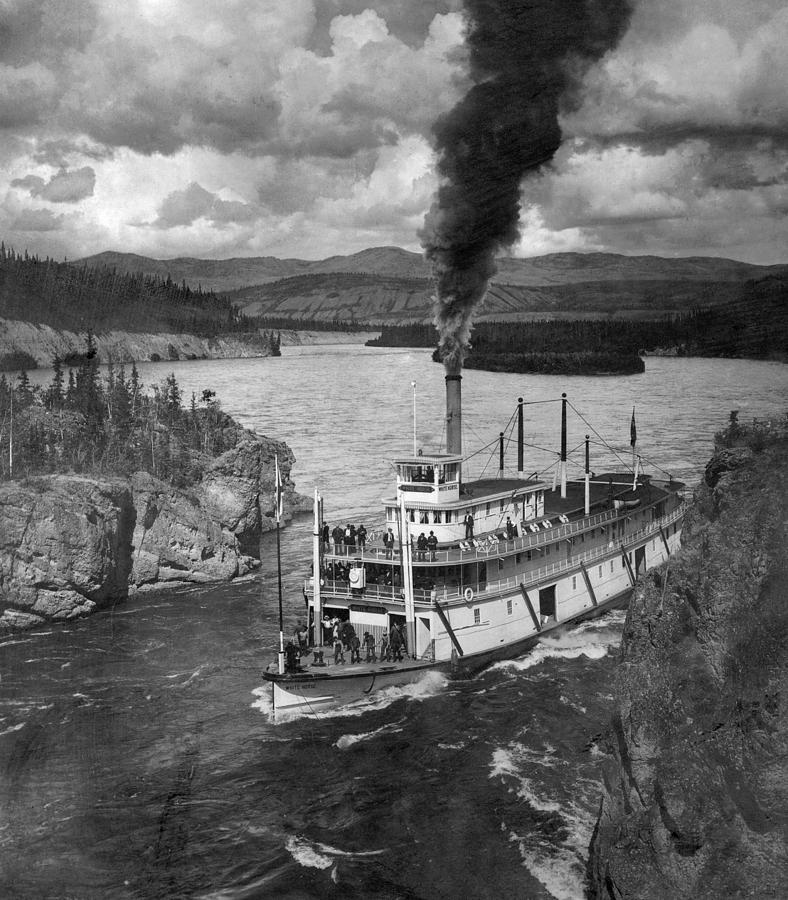 1920 Photograph - Alaska Steamboat, 1920 by Granger