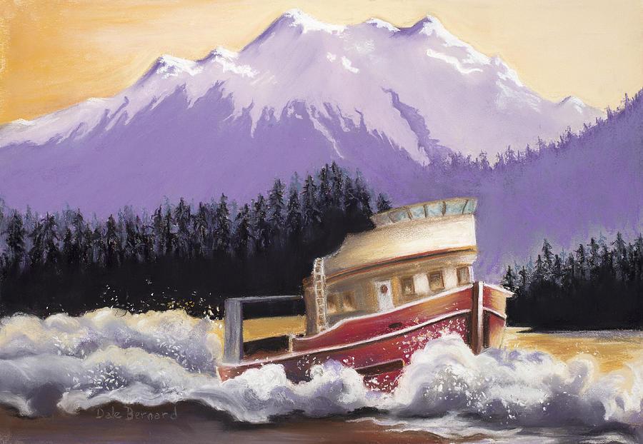 Boat Painting - Alaskan Boat Adventure by Dale Bernard