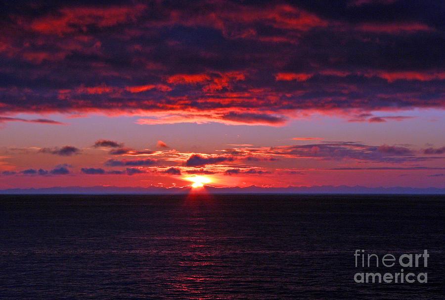 Alaska Photograph - Alaskan Sunset by Bob Hislop