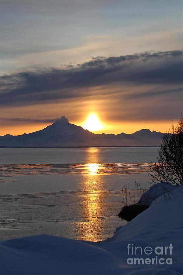 Sunset Photograph - Alaskan Sunset by Rick  Monyahan
