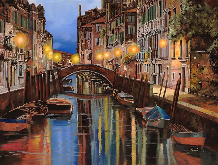 Venice Painting - alba a Venezia  by Guido Borelli
