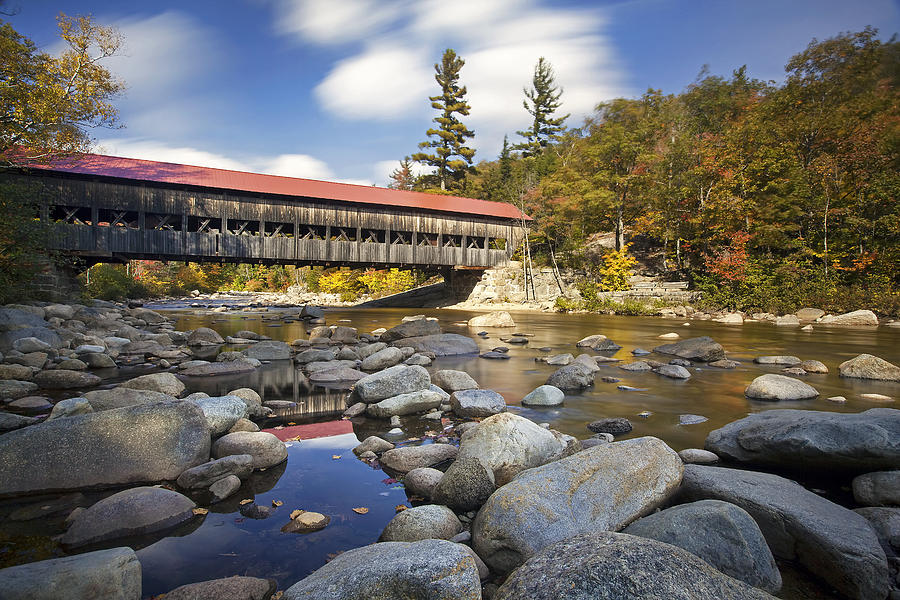 Albany Photograph - Albany Covered Bridge by Eric Gendron