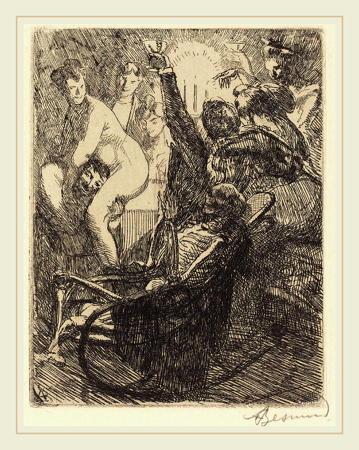1849 Drawing - Albert Besnard, The Orgy Lorgie, French by Litz Collection