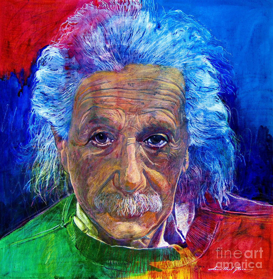 Albert Einstein Painting - Albert Einstein by David Lloyd Glover