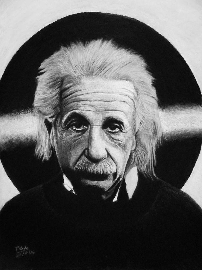 Albert Drawing - Albert Einstein by Vishvesh Tadsare