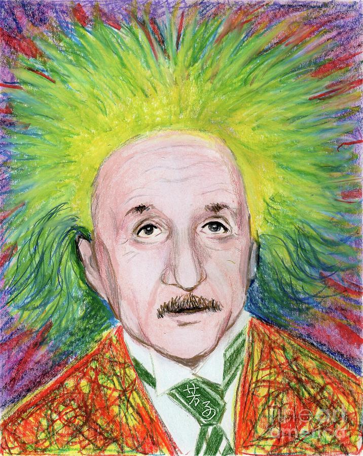 Albert Einstein Drawing - Albert Einstein by Yoshiko Mishina