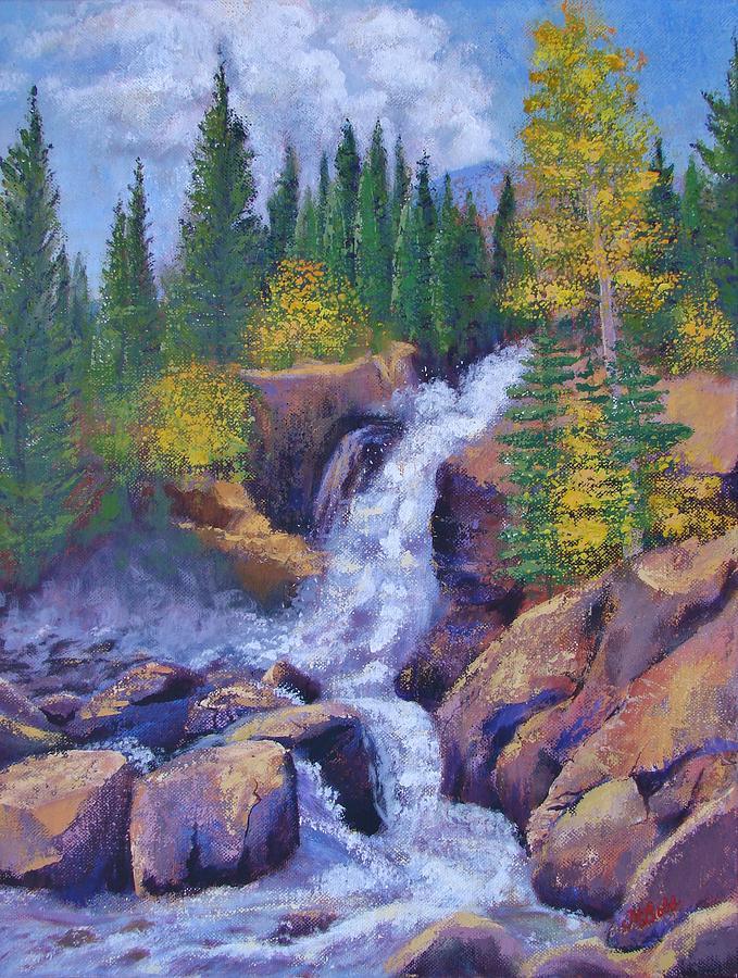 Alberta Falls Painting - Alberta Falls by Margaret Bobb