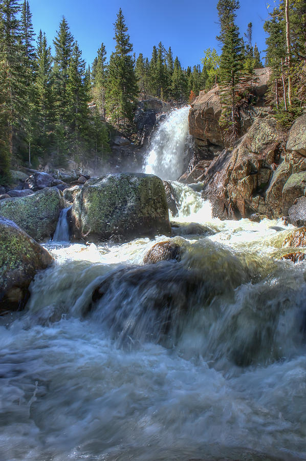 Waterfalls Photograph - Alberta Falls by Perspective Imagery