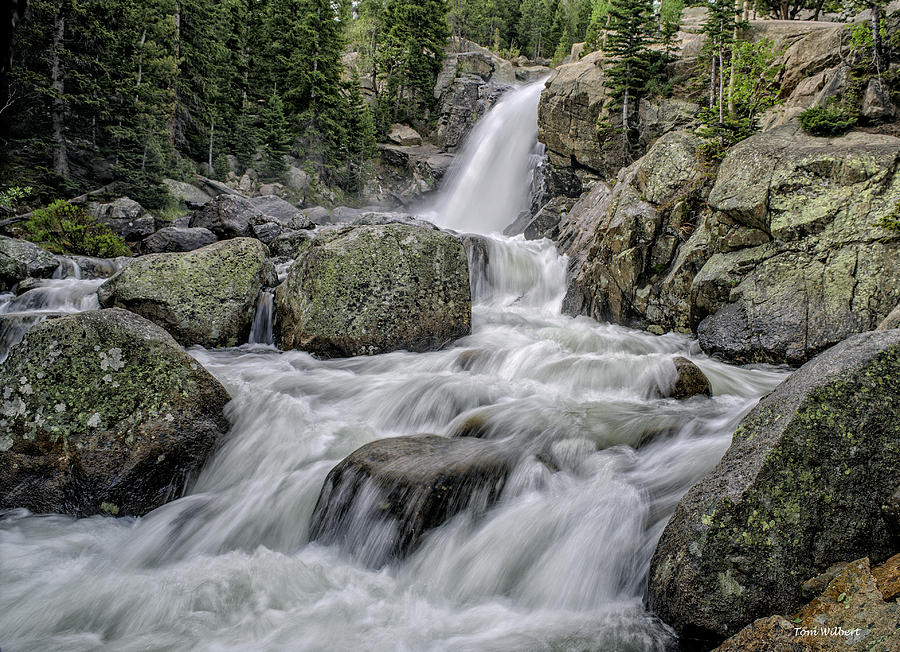 Rockies Photograph - Alberta Falls by Tom Wilbert