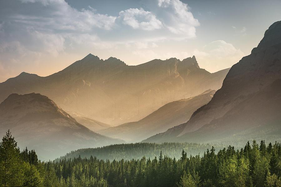 Alberta wilderness near Banff Photograph by Pgiam