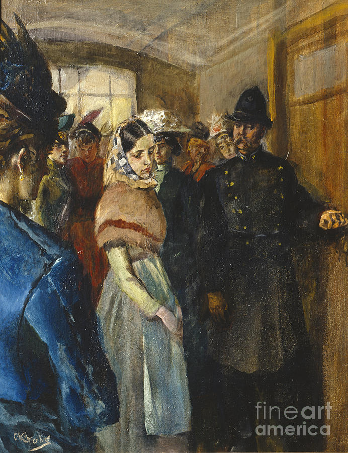 Albertine In The Police Doctors Waiting Room Painting By