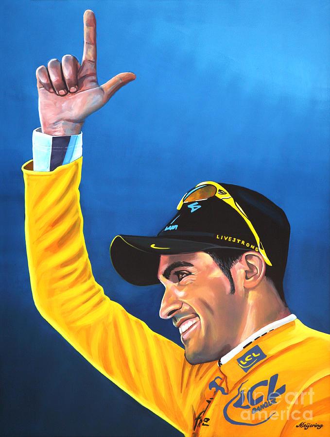 Alberto Contador Painting - Alberto Contador by Paul Meijering