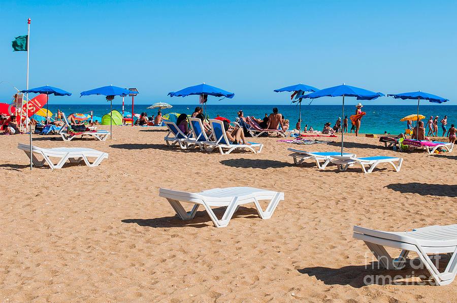 Albufeira Photograph - Albufeira Beach by Luis Alvarenga