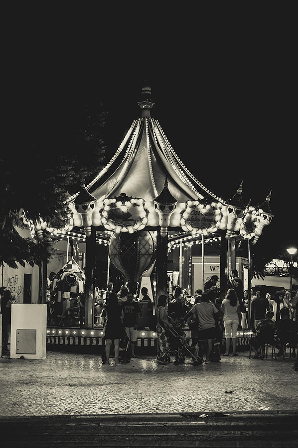 Street Photograph - Albufeira Street Series - Merry-go-round by Marco Oliveira