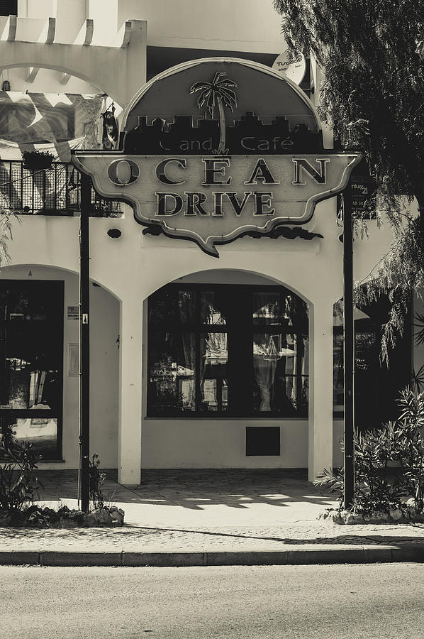 Street Photograph - Albufeira Street Series - Ocean Drive by Marco Oliveira