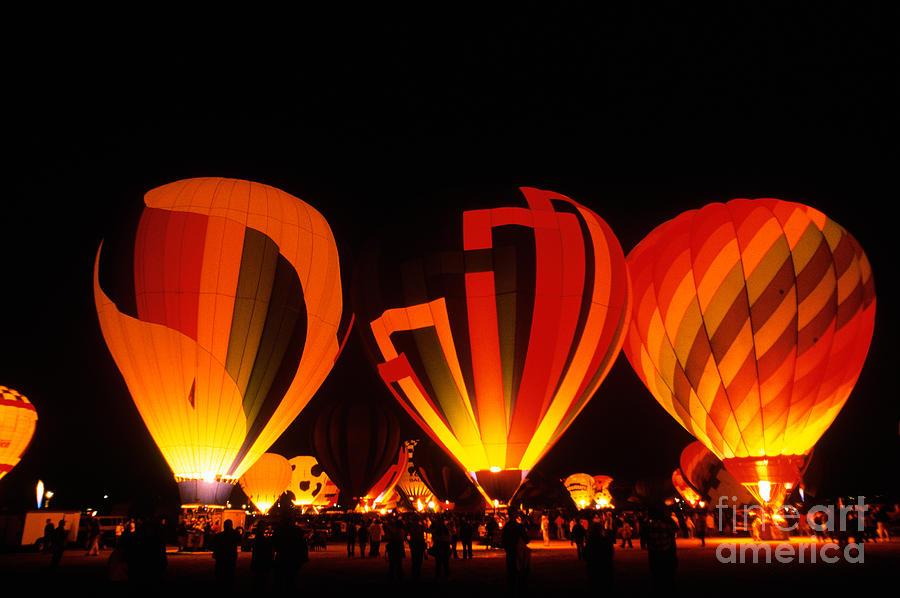 Balloon Photograph - Albuquerque Balloon Festival by Mark Newman
