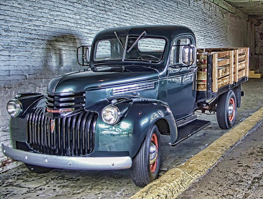 Alcatraz 1940 Chevy Utility Truck Photograph By Daniel