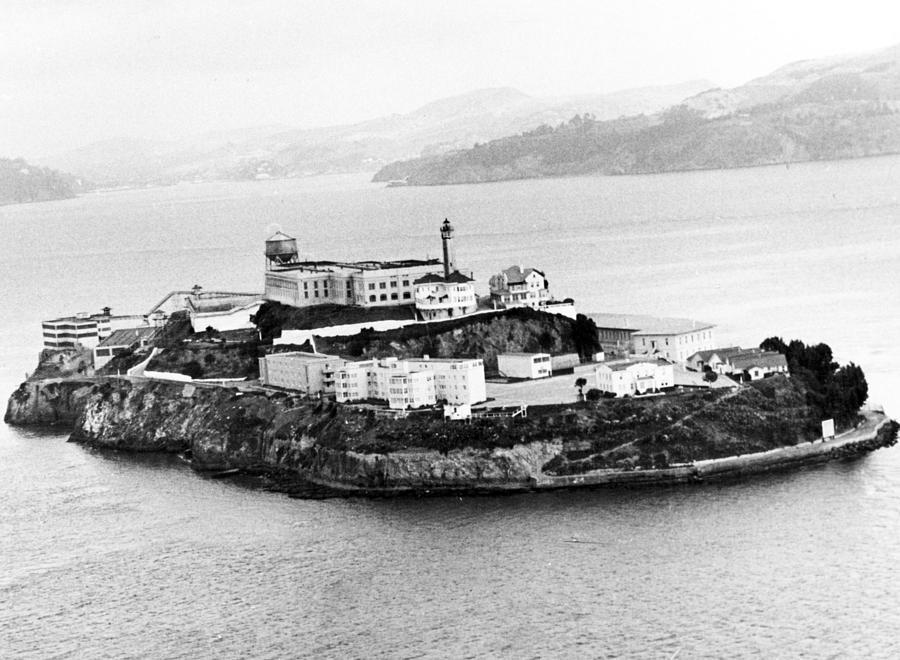 Retro Images Archive Photograph - Alcatraz All Alone by Retro Images Archive