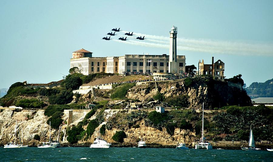 Blue Angels Photograph - Alcatraz Blues by Benjamin Yeager