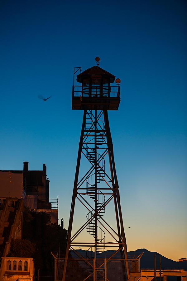 Alcatraz Photograph - Alcatraz Guard Tower by Steve Gadomski
