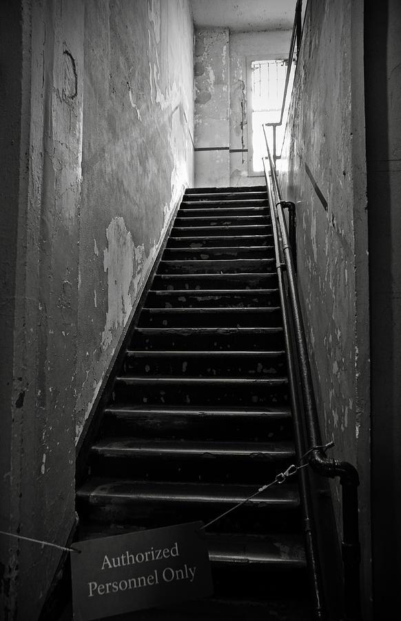 Alcatraz Photograph - Alcatraz Hospital Stairs by RicardMN Photography