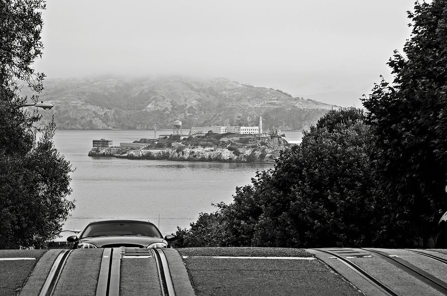Alcatraz Photograph - Alcatraz Island From Hyde Street In San Francisco by RicardMN Photography