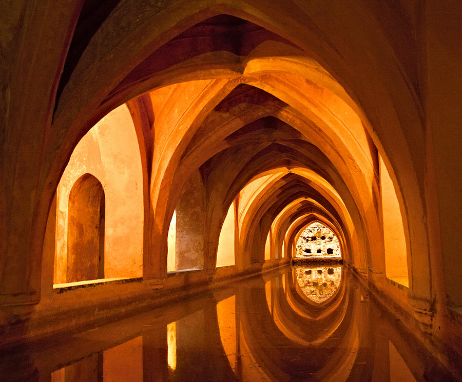 Europe Photograph - Alcazar Cave Galleries Seville by Viacheslav Savitskiy