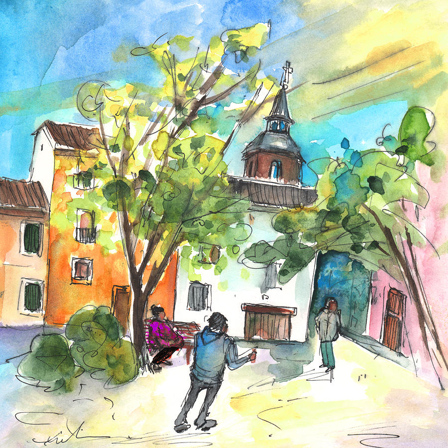 Travel Painting - Alcazar De San Juan 02 by Miki De Goodaboom