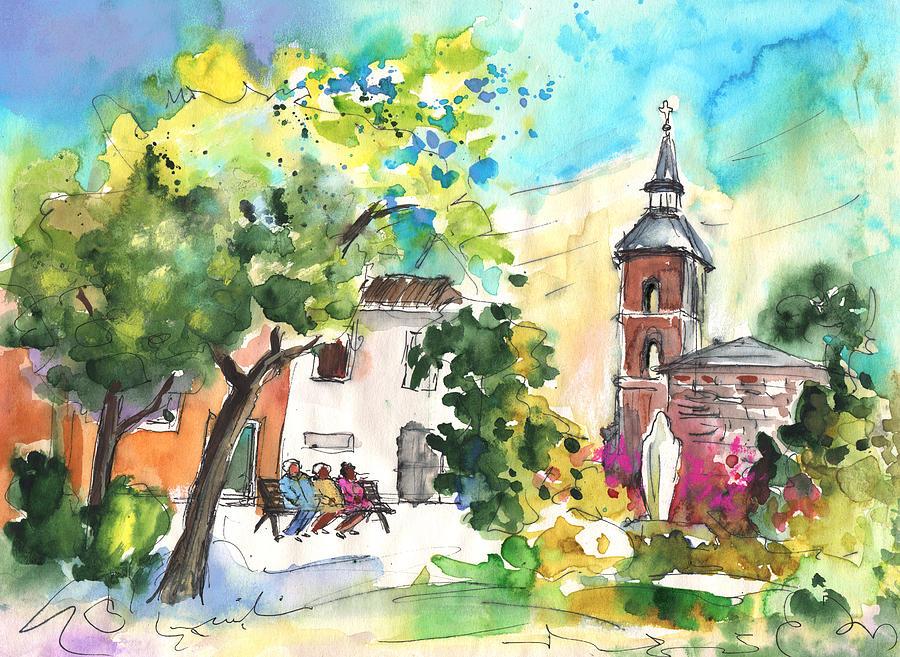 Travel Painting - Alcazar De San Juan 03 by Miki De Goodaboom