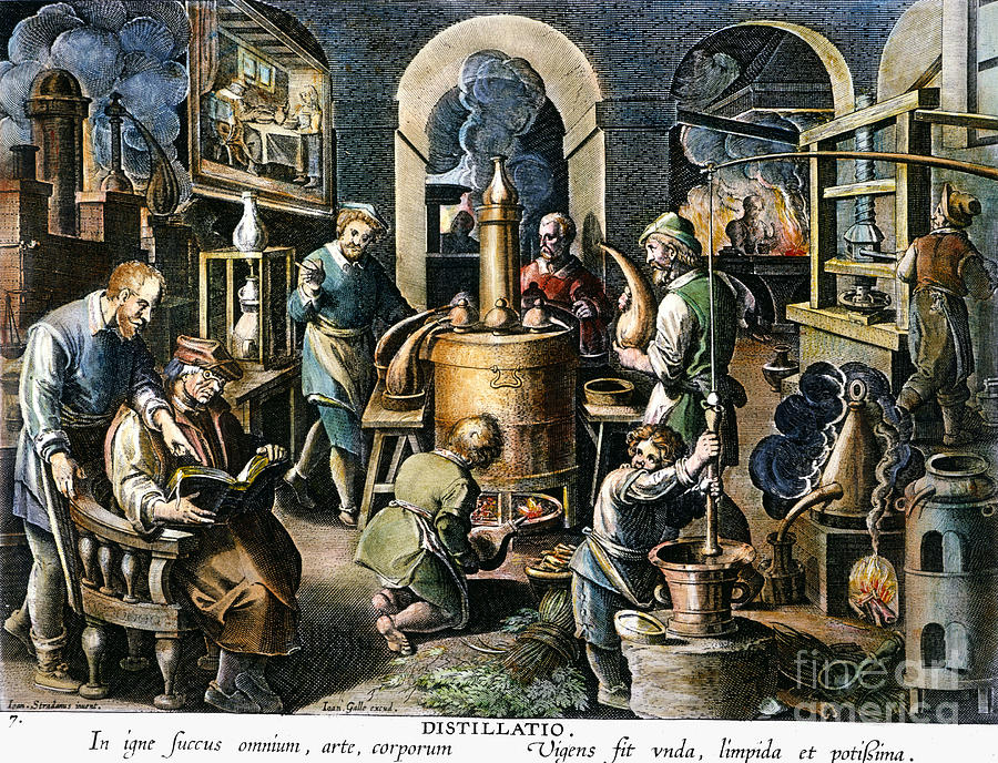 Alchemy Laboratory Photograph By Granger