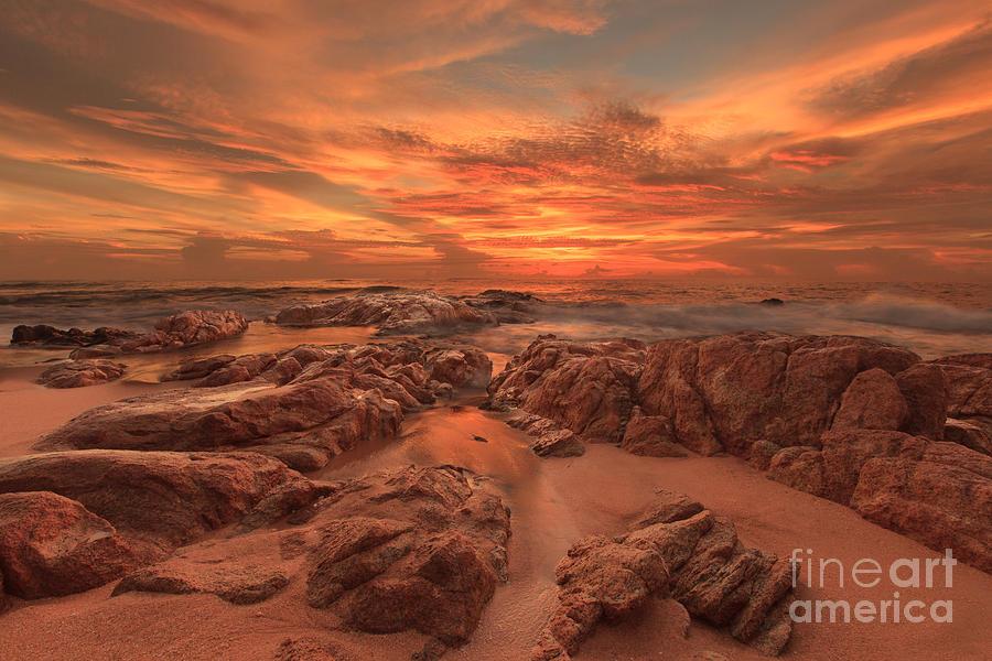 Sunset Photograph - Alchemy On The Rocks by Pete Reynolds
