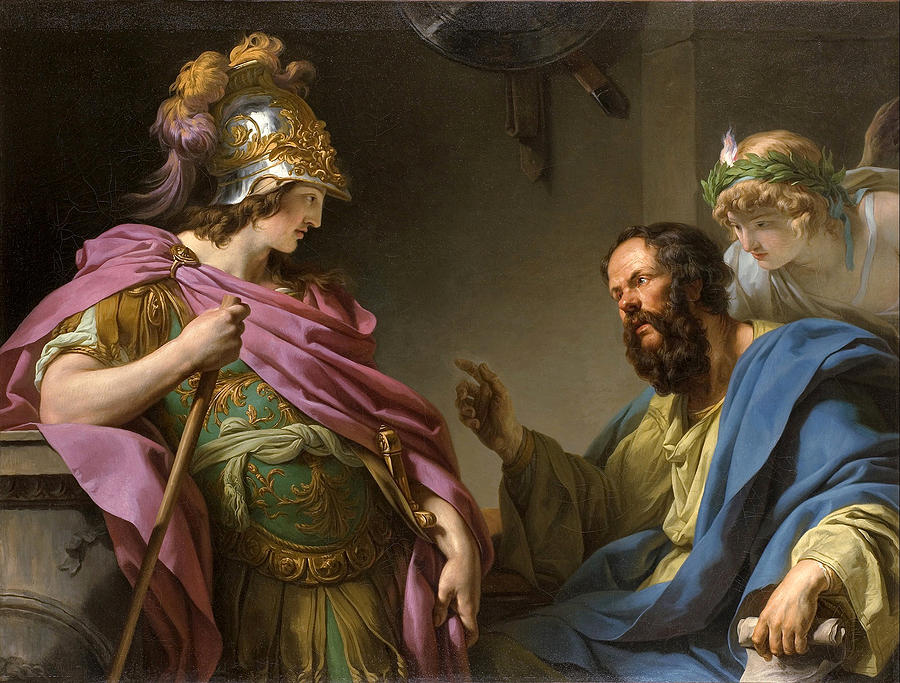 Alcibades being taught by Socrates Painting by Francois-Andre Vincent