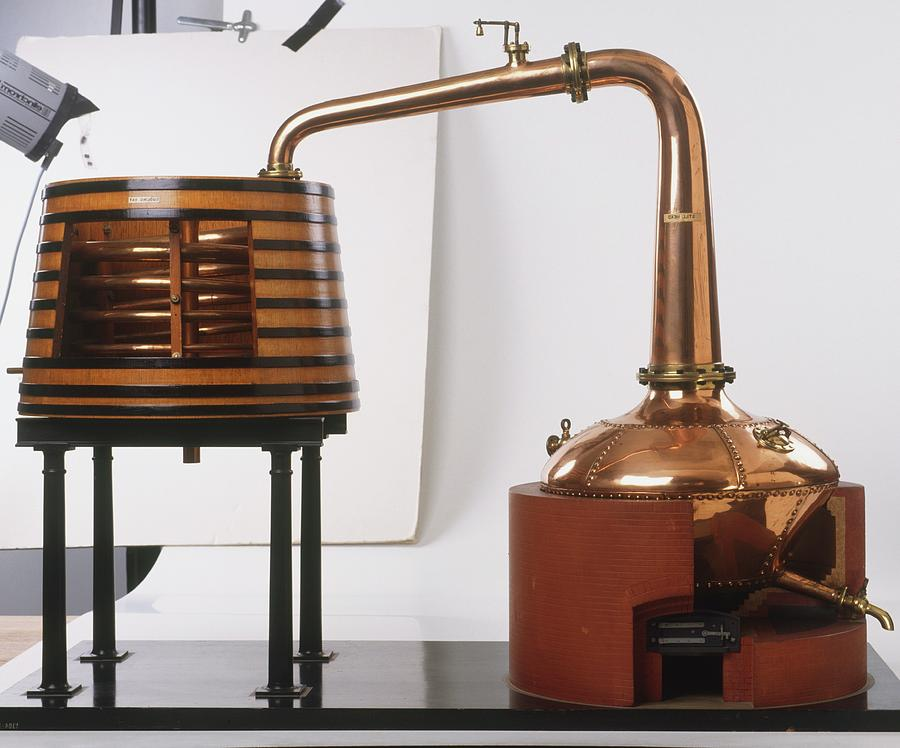Alcohol Photograph - Alcohol Distiller by Dorling Kindersley/uig