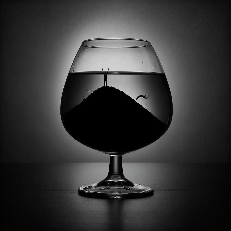 Creative Edit Photograph - Alcoholism by Victoria Ivanova