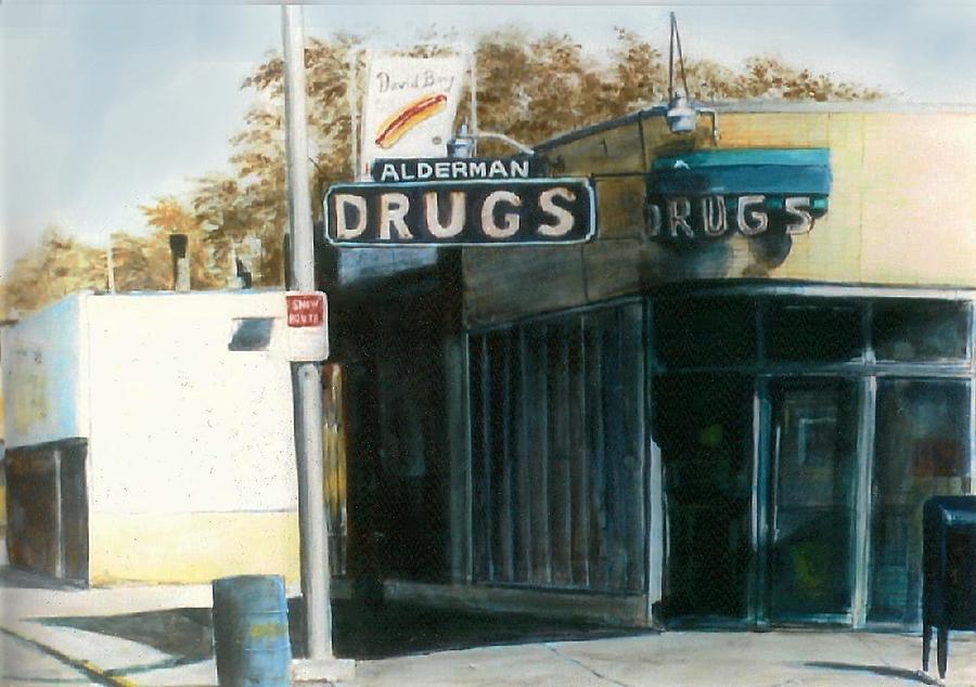 Urban Painting - Alderman Drugs by William  Brody