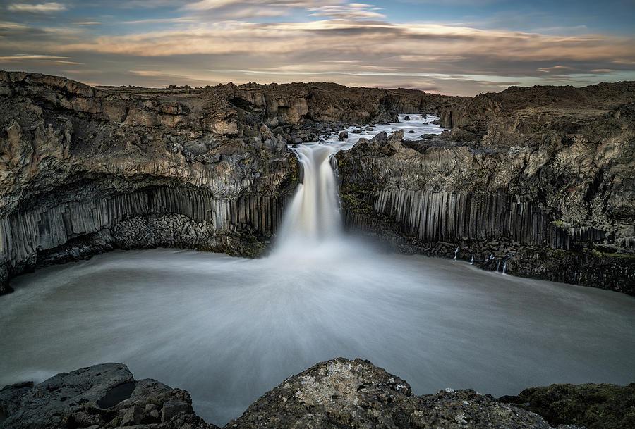 Waterfall Photograph - Aldeyjarfoss Waterfall North Iceland by Ronny Olsson