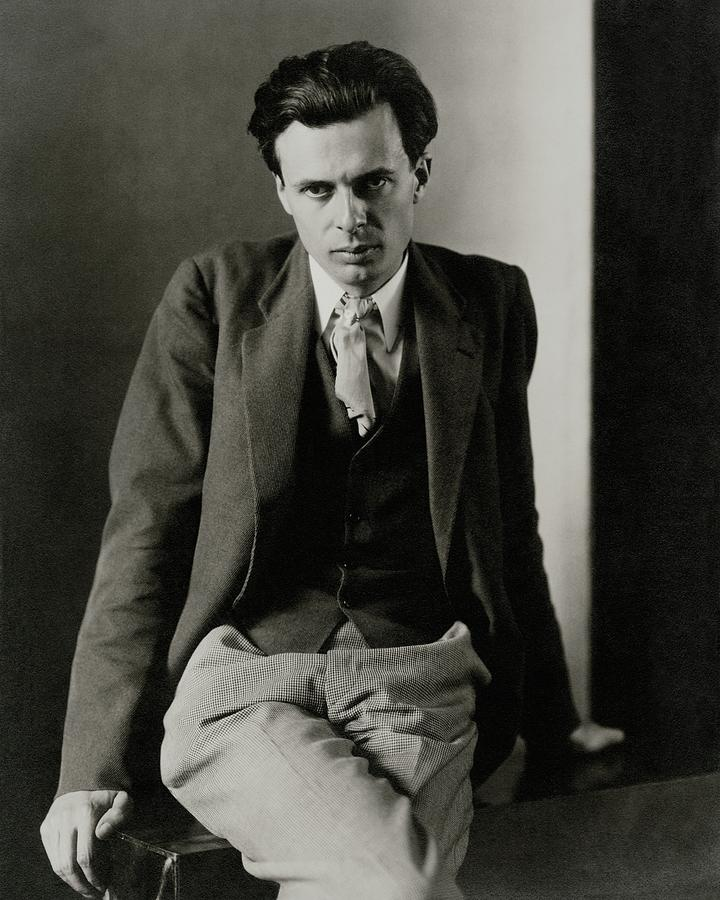 Aldous Huxley Wearing A Three-piece Suit Photograph by Charles Sheeler